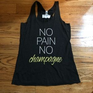 Tops - NWT Champagne racerback